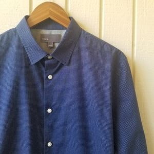 Vince Blue Long Sleeve Button Down Shirt Large